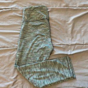 blue/grey design leggings
